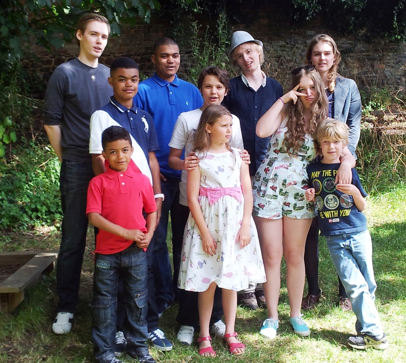 Jeremy & Brenda's grandchildren. Parents name in brackets L-R Front: Benjamin (Chris), Willow (Vic), Emmy & Toby (Genevieve) Middle: Samuel (Chris), Dylan (Vic).  Back: Storm (Vic), Matthew (Chris), Kal (Vic), Florrie (Dominic)